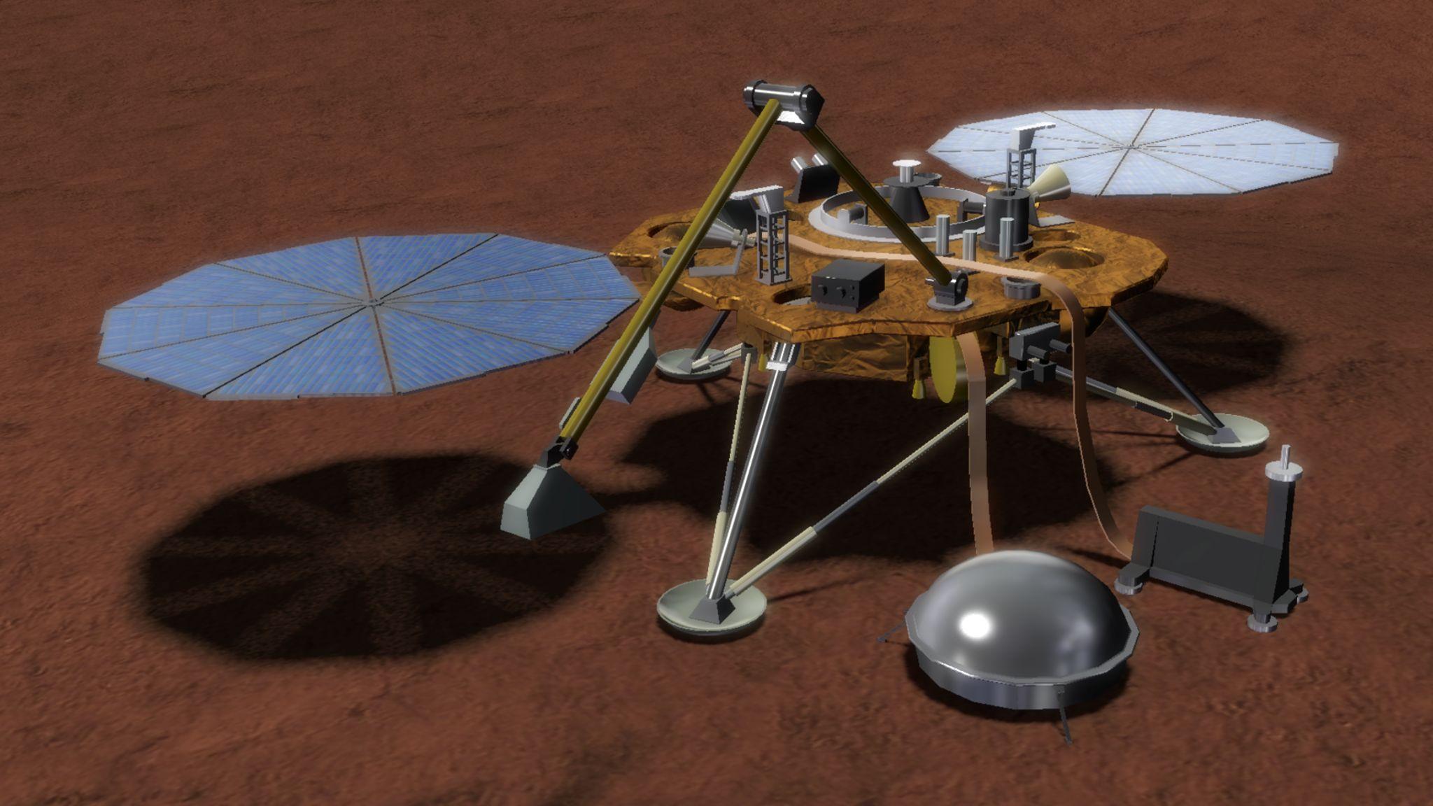 Зонд NASA InSight приземлился на Марсе