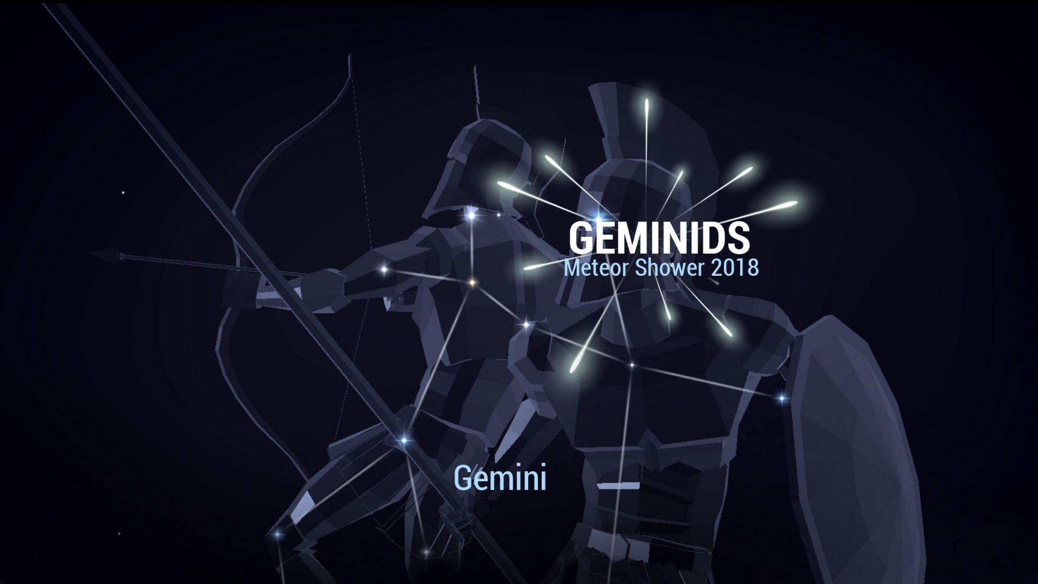 The Geminids Meteor Shower Peaks