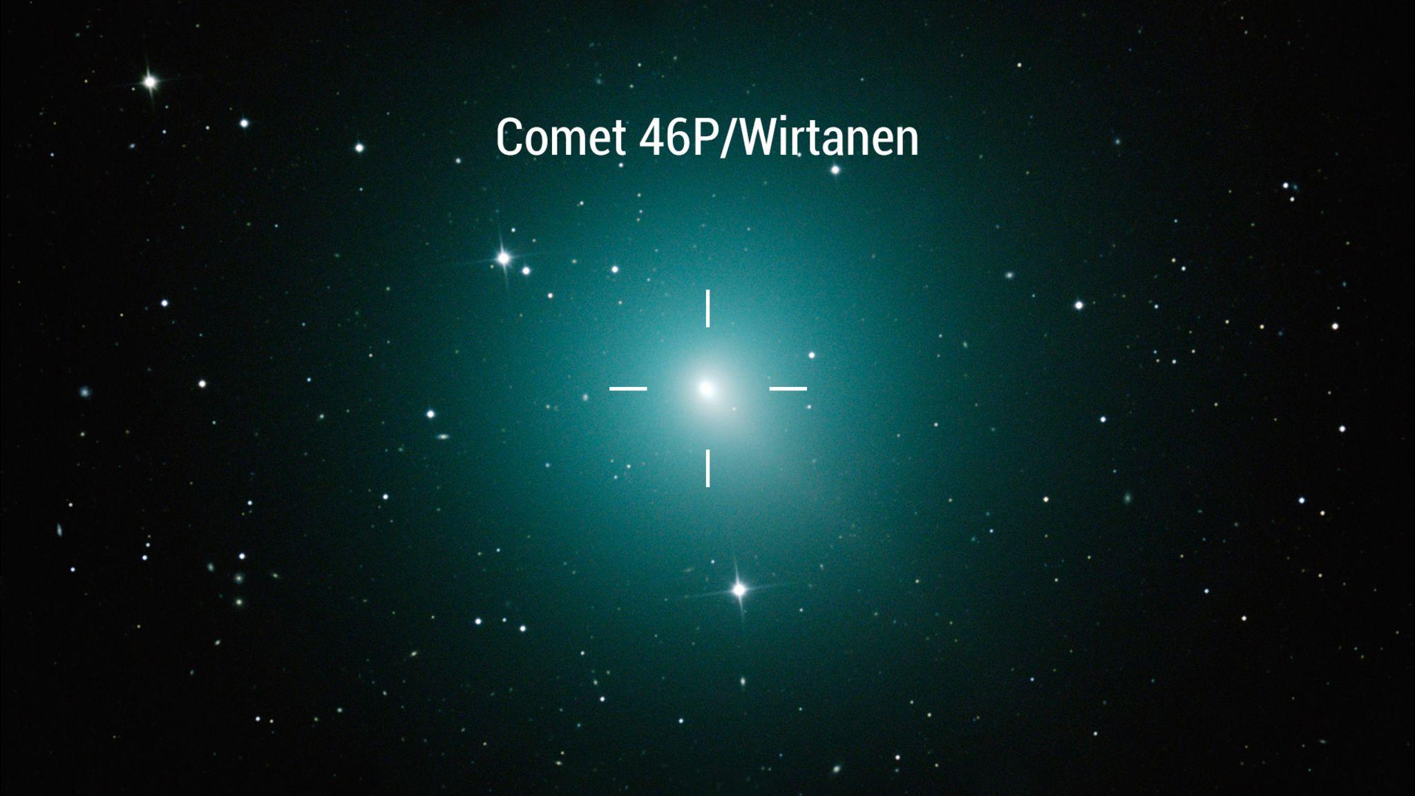 Cometa 46P / Wirtanen se aproxima da Terra