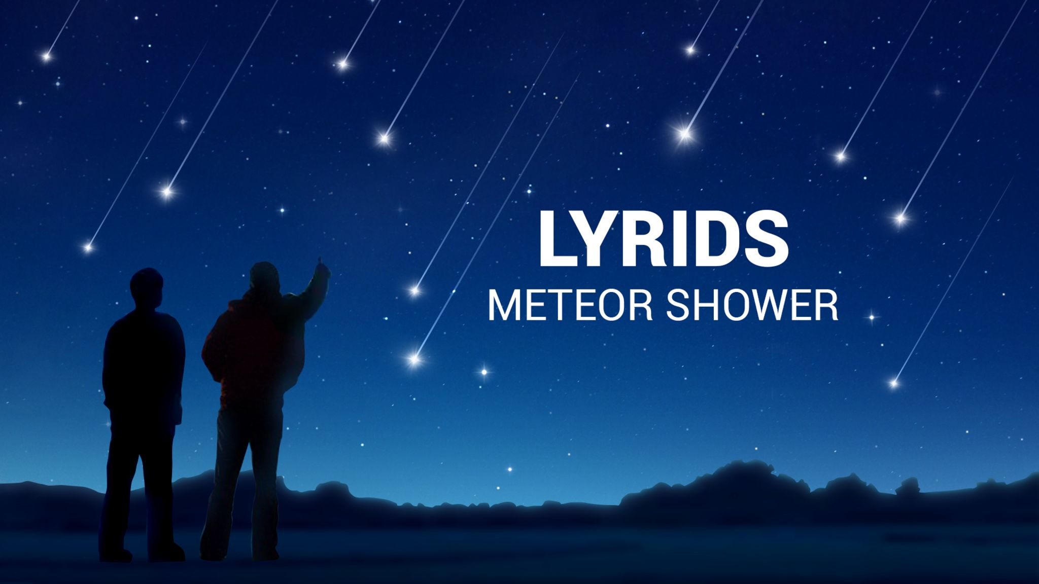 Der Lyriden-Meteorschauer