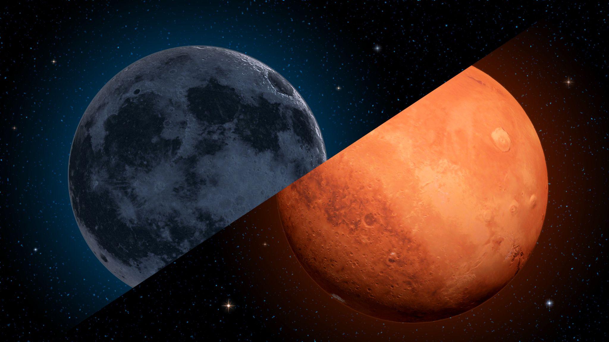 月と火星の接近