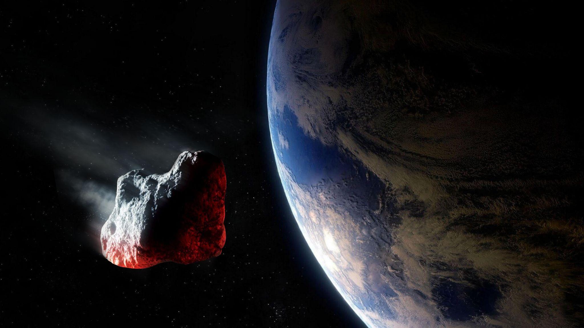 Un trio di asteroidi in direzione della Terra
