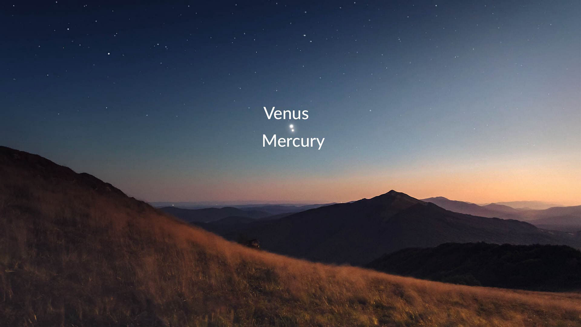 Mercury and Venus conjunction