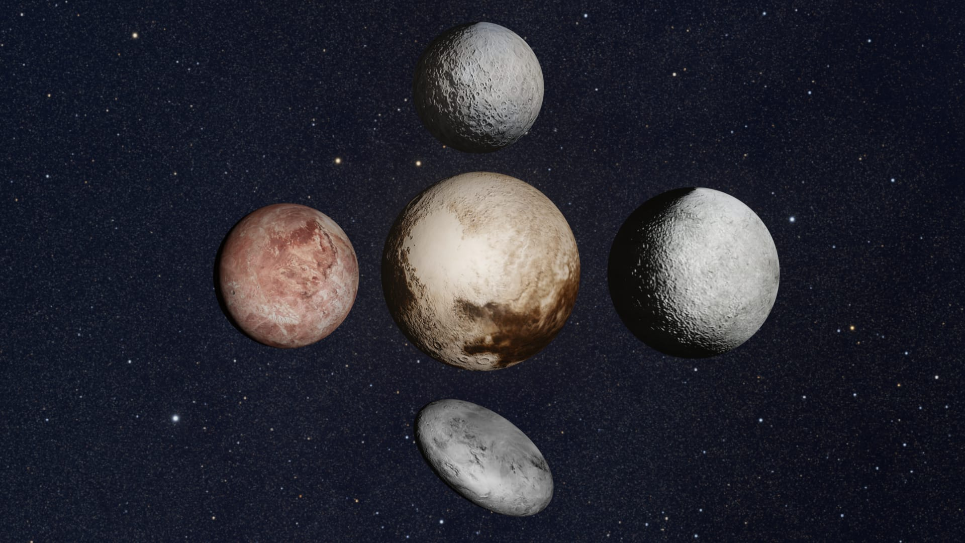 Dwarf planets joined together