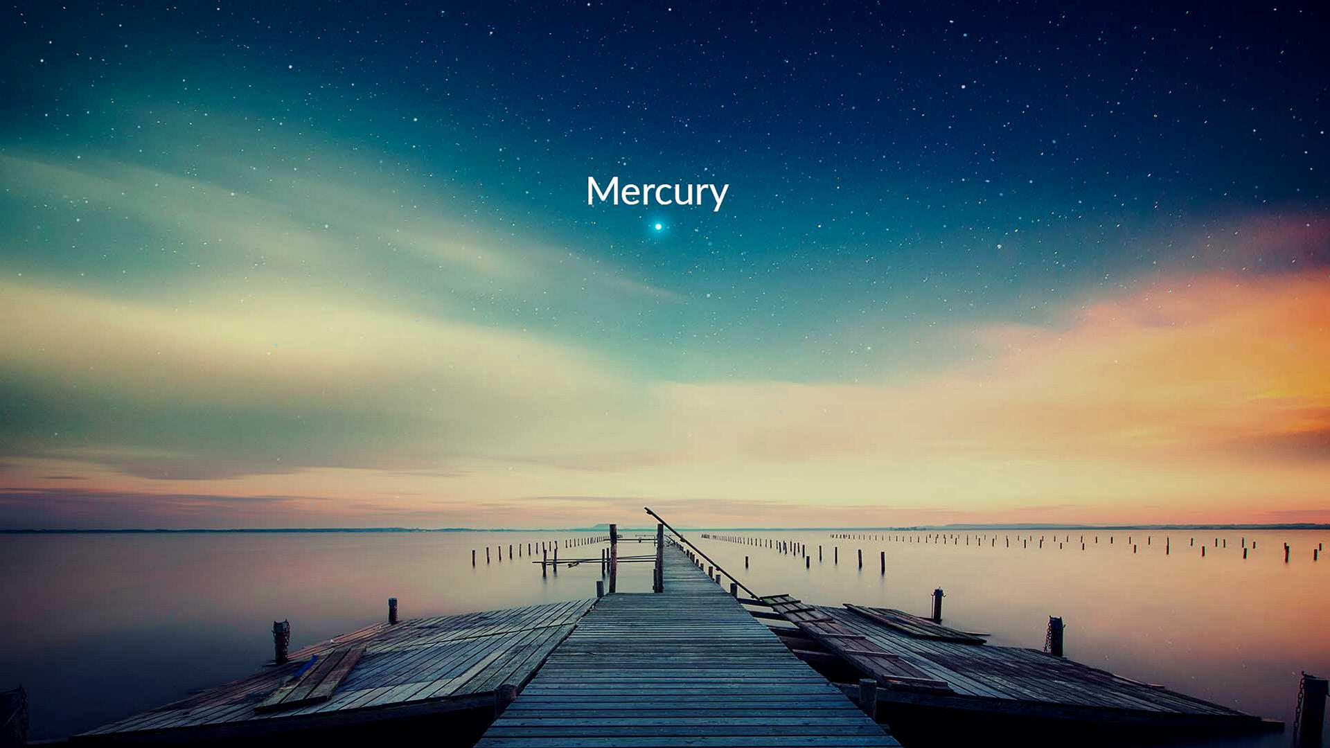 Mercury visible in the evening sky
