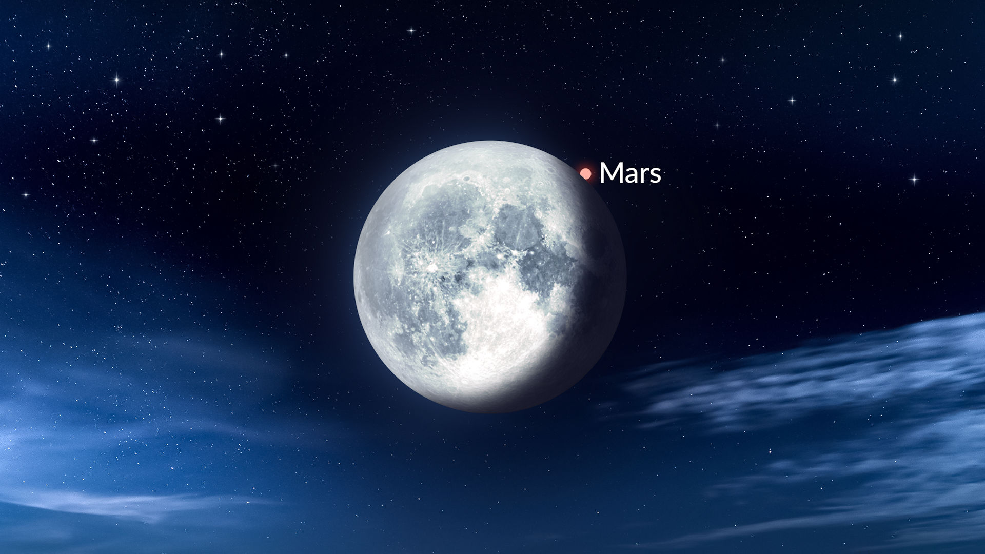 Lunar Occultation of Mars