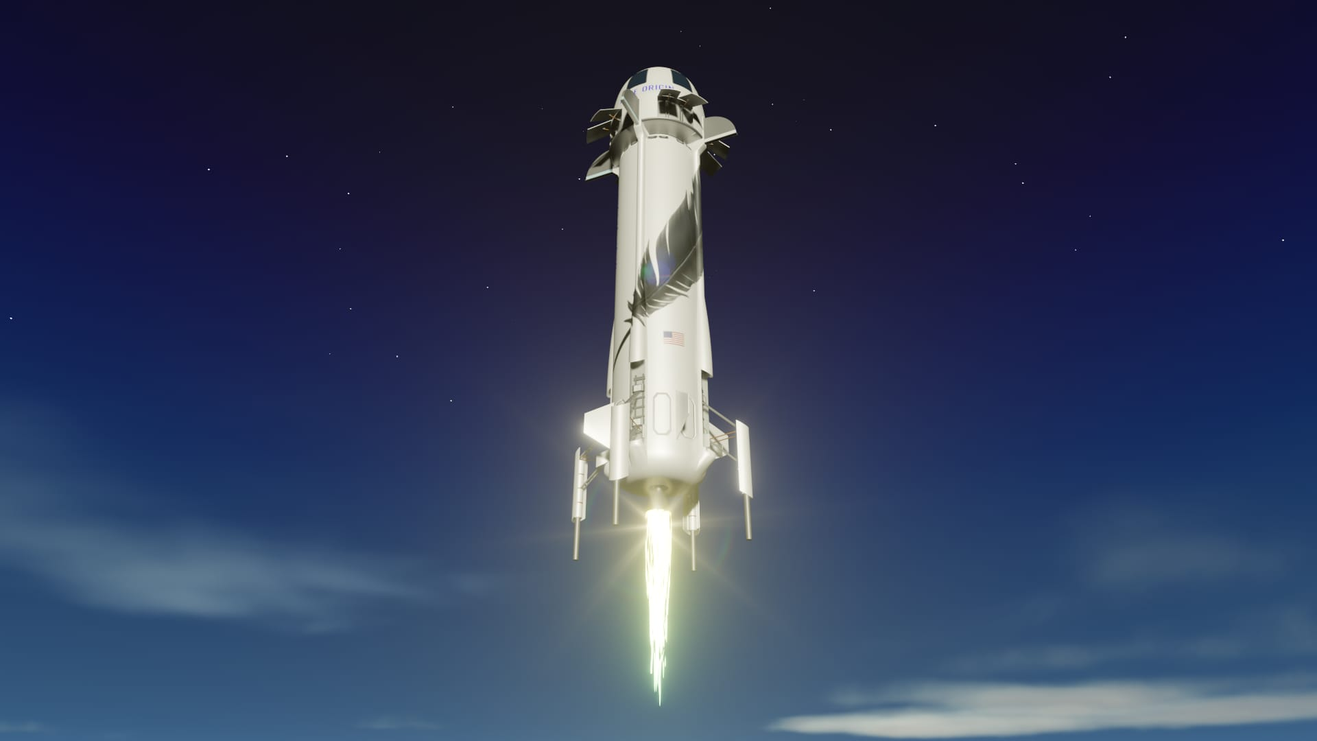 Blue Origin's First Crewed Suborbital Flight