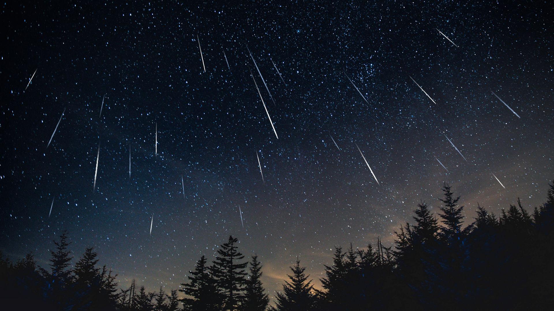 La pluie d'étoiles filantes des Léonides