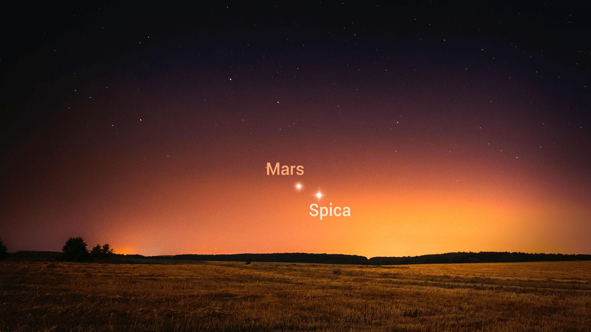 火星经过角宿一
