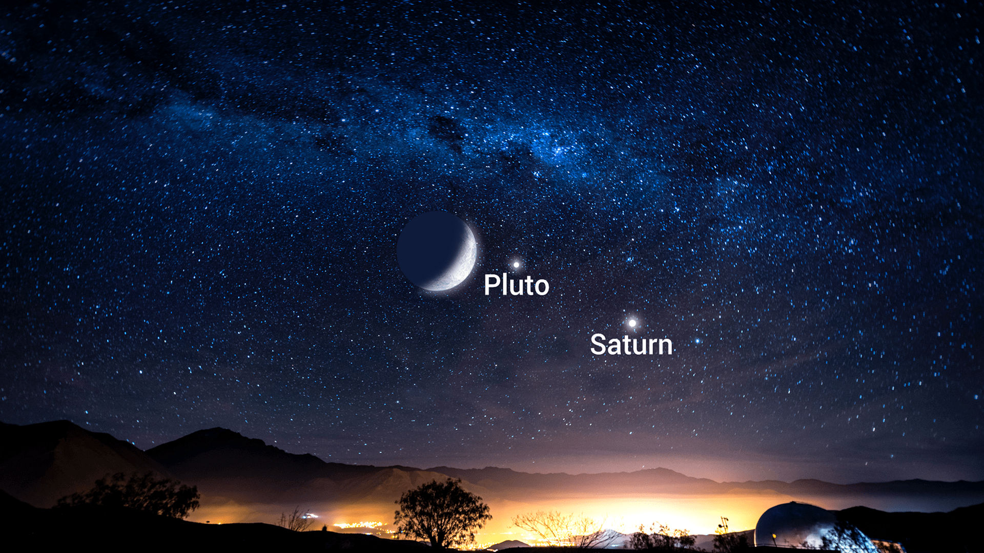 La alineación de la Luna, Saturno y Plutón