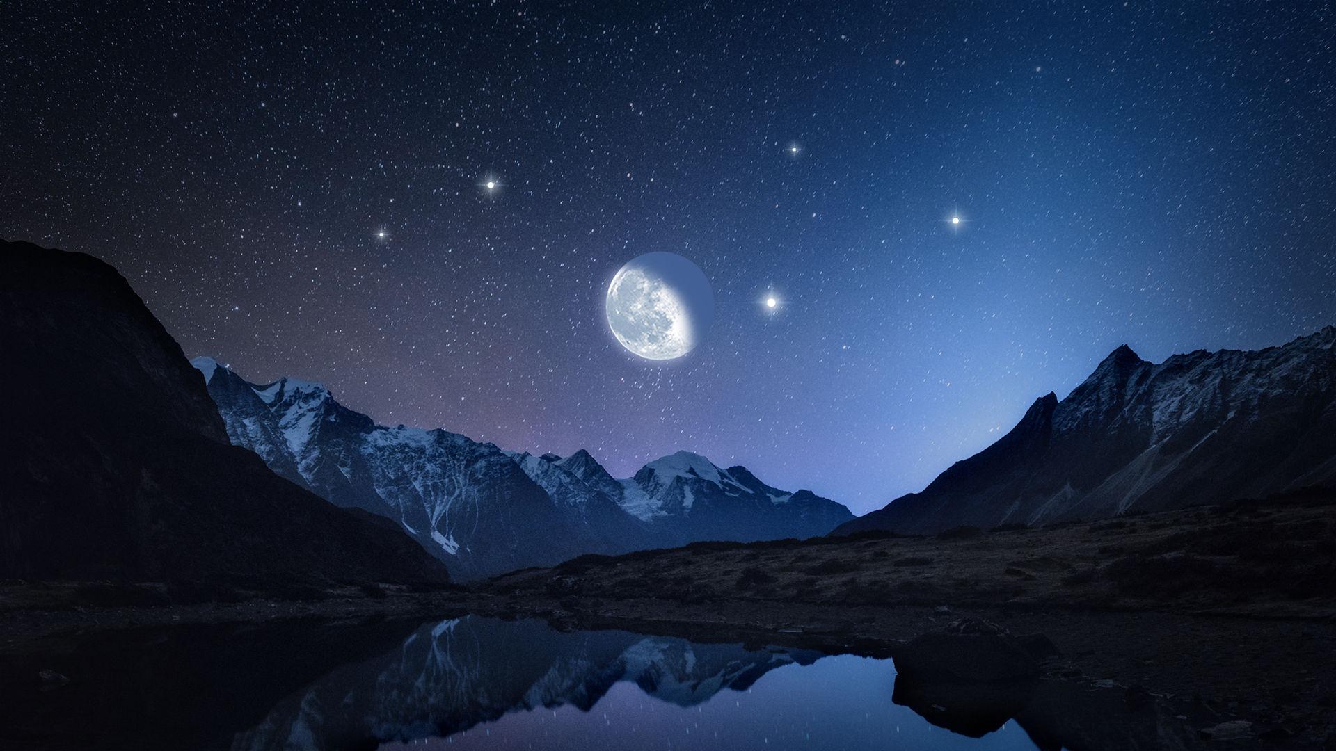 밝은 10 월 별