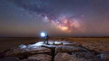 Observação de estrelas no fim de fevereiro