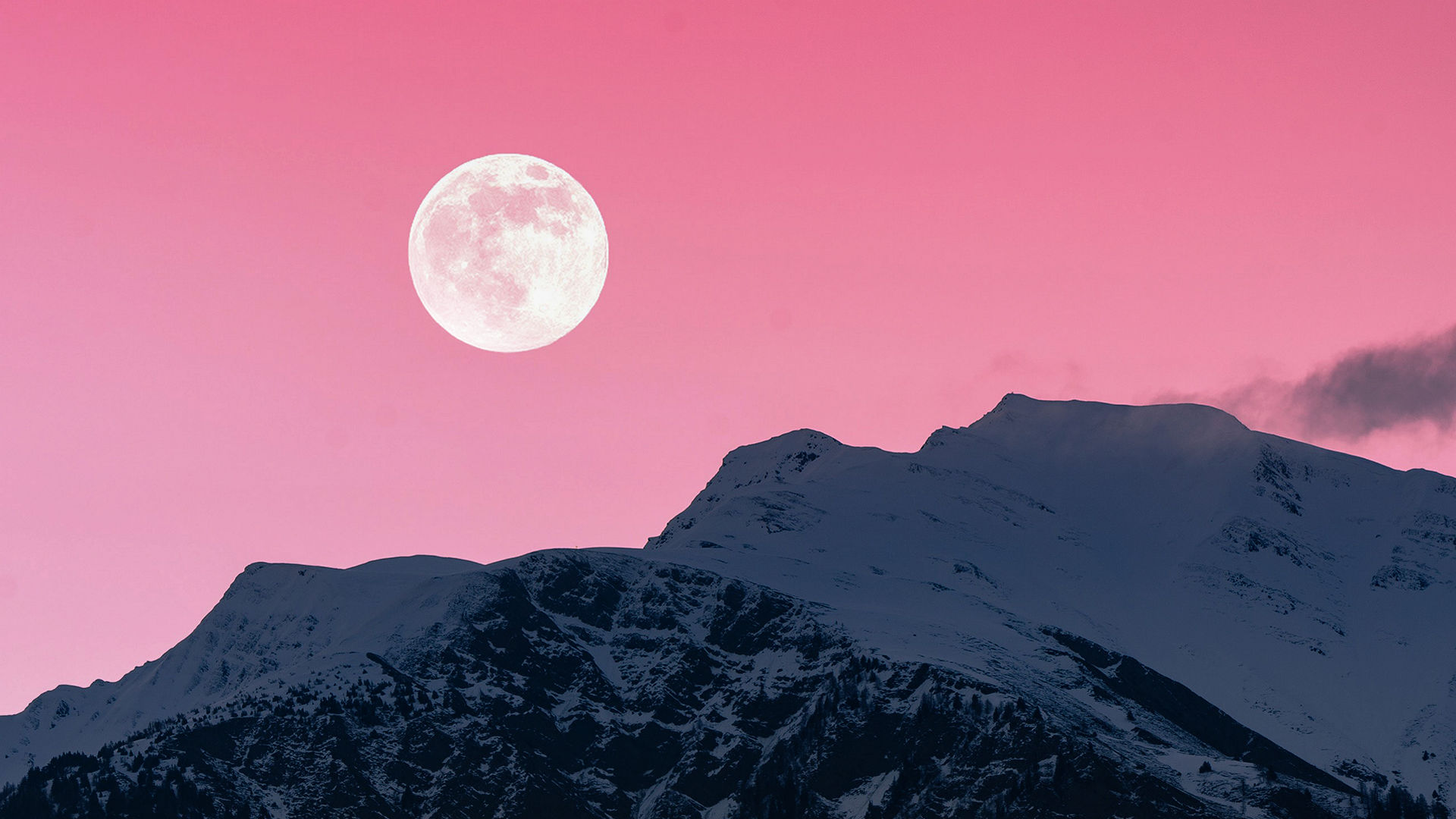 Full Pink Moon adorns the April sky