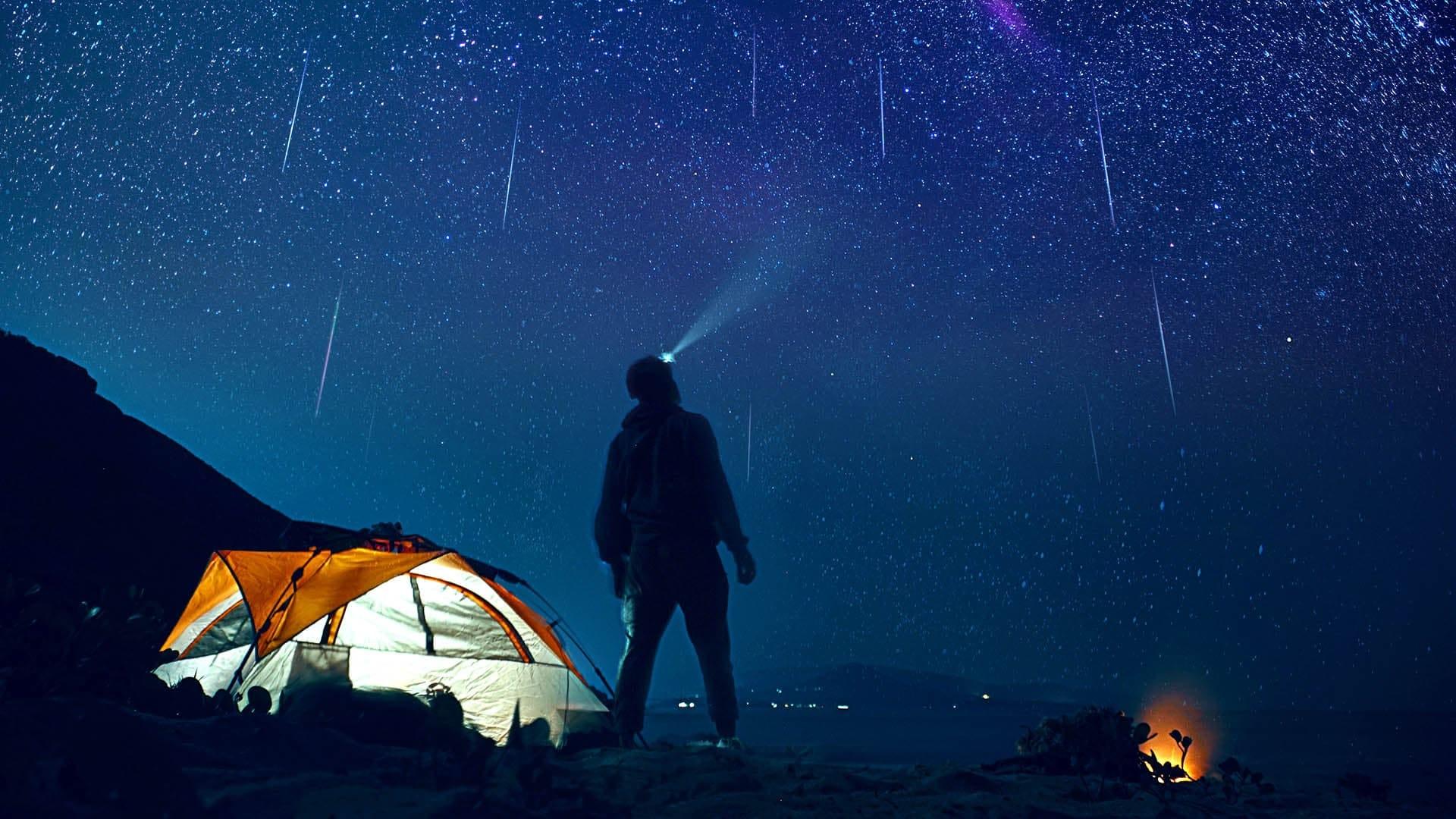 觀看流星雨的提示