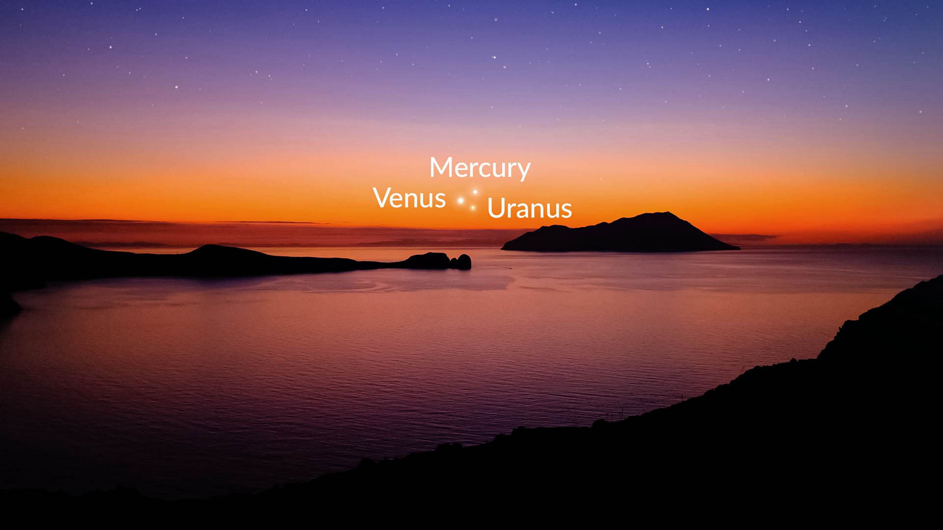 Venus, Mercury, Uranus Meet In the Sky